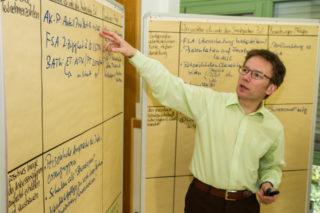 Der Leiter der Bildungsakademie, Andreas Pfläging, weiß, dass die betriebswirtschaftlichen Ergebnisse von vielen Faktoren abhängen. Foto: SMMP/Bock